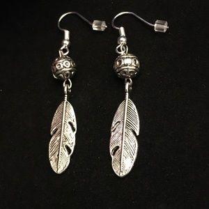 """Jewelry - New Tibetan silver earrings approx 2"""""""